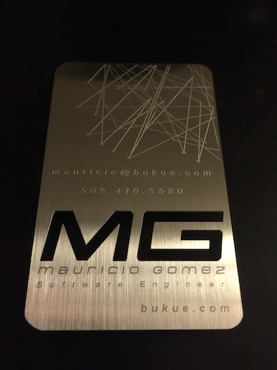 <table>	 						<tr> 							<td class='portTip'> 								The latest version of my business card. It is etched in metal. If you want one drop me a line with an address to mail it to you. <br/><br/> 							</td> 						</tr> 						<tr> 							<table> 								<tr> 									<td class='bold'> 										Tools:  									</td> 									<td class='portTip'> 										Photoshop and Illustrator. 									</td> 								</tr>  							</table> 						</tr>	 					</table>
