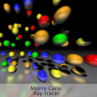 <table> 					<tr> 						<td class='portTip'> 							Monte Carlo Ray Tracer. Effects implemented: reflections, refractions, antialiasing, Fresnel equations, soft shadows, glossy reflections and depth of field. <br/><br/> 						</td> 					</tr> 					<tr> 						<table>	 							<tr> 								<td class='bold'> 									Languages: 								</td> 								<td class='portTip'> 									C. 								</td> 							</tr> 							<tr>	 								<td class='bold'> 									Libraries: 								</td> 								<td class='portTip'> 									EasyBMP. 								</td> 							</tr>  							<tr> 								<td class='bold'> 									Tools:  								</td>	 								<td class='portTip'> 									Eclipse and SVN. 								</td>		 							</tr> 		 						</table>	 					</tr>	 				</table>